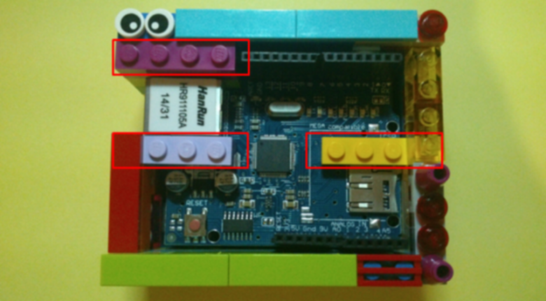 arduino uno lego case (above)